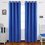 Deconovo Room Darkening Grommet Top Thermal Insulated Window Blackout Curtains for Nursery Room 52x84 Inch 1 Pair Royal Blue