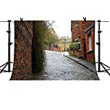MTMETY Backdrop10x7ft European Red Brick Wall Construction Slate Street Architecture Background Vinyl Photo Studio Props PME1398