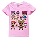 DGFSTM Girls Personalised Cotton T-Shirt. Perfect Birthday Present (Pink, 140(9-10years))