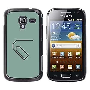 GOODTHINGS Funda Imagen Diseño Carcasa Tapa Trasera Negro Cover Skin Case para Samsung Galaxy Ace 2 I8160 Ace II X S7560M - paperclip minimalista gris