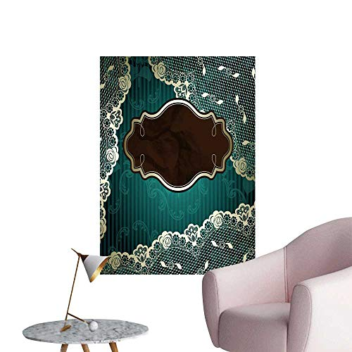 SeptSonne Wall Decals lacy Design Brown Label on Green jpg eps Version Also Available Environmental Protection Vinyl,20