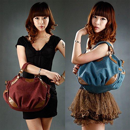 Bolso Yoohobo0038 Blue One rosso Beige Hombro para al Azul Size Yoome Mujer an61g
