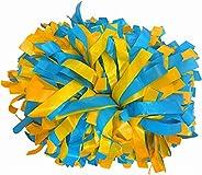 "kuugear Pair, 6"" Plastic Cheerleading Pom Pom with Baton H"