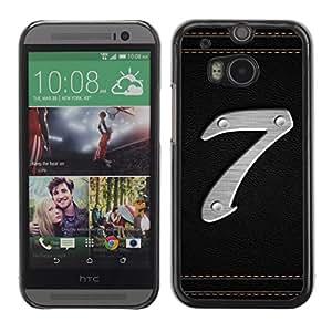 Cubierta de la caja de protección la piel dura para el HTC ONE M8 2014 - Number 7