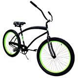 Zycle Fix Cobra- Black Neon Green Cruiser 26""