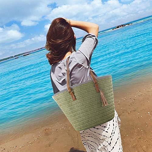 de Crossbody el de hombro de señoras hombro monedero del de bolso Verde las verano diseño de para Là Bolso grande playa la totalizador Bolso en Vestmon las Bolsos del mujeres W1q8w6xFz