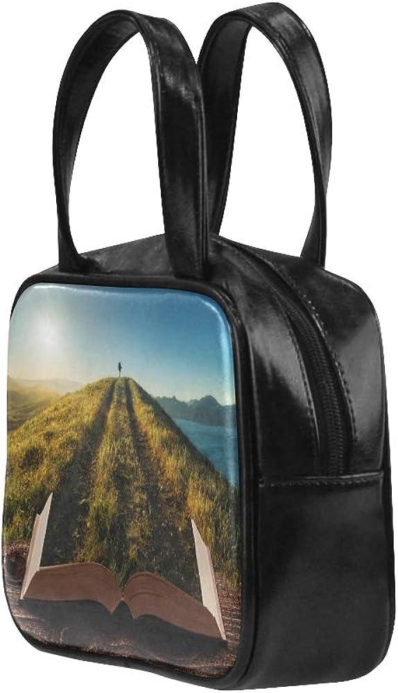 Zip Tote Bag Beautiful Creative Books Fashion Womens Bag Carry On Tote Bag Pu Leather Top Handle Satchel Handbag Zippers