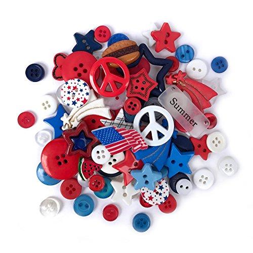 Buttons Galore 50-Value Pack Patriotic Button
