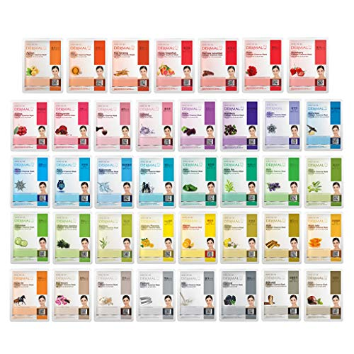 DERMAL 39 Combo Pack Collagen Essence Full Face Facial Mask Sheet – The Ultimate Supreme Collection for Every Skin…