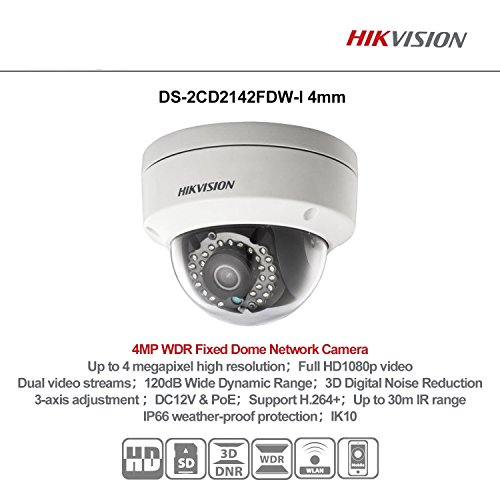 Hikvision New 4MP DS-2CD2142FWD-I WDR Fixed HD Network IP Dome Camera US English Version 4mm