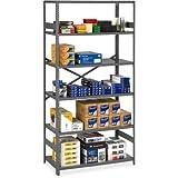Tennsco Commercial Shelf - 36quot; x 18quot; x 75quot; - Steel - 6 x Shelf(ves) - Medium Gray