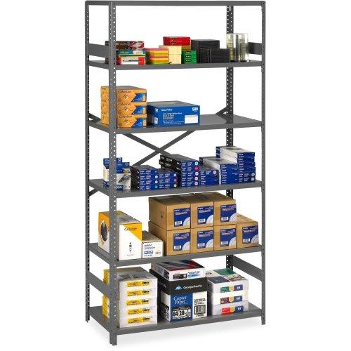 Tennsco Commercial Shelf - 36quot; x 24quot; x 75quot; - Steel - 6 x Shelf(ves) - Medium -