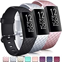 Tobfit Band Compatible with Fitbit Charge 4 Bands & Fitbit Charge 3 Bands, Classic Sport Wristbands Accessory Small...