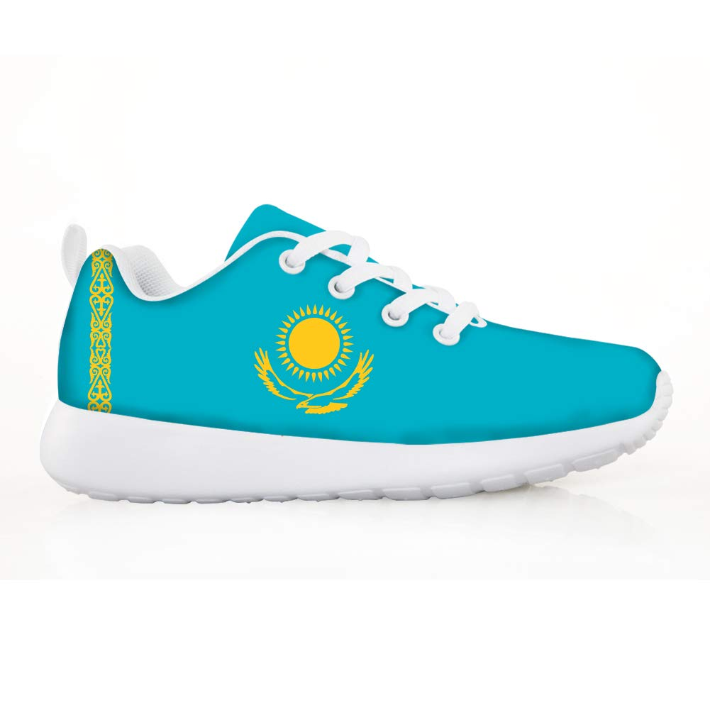 Owaheson Boys Girls Casual Lace-up Sneakers Running Shoes Kazakhstan Flag