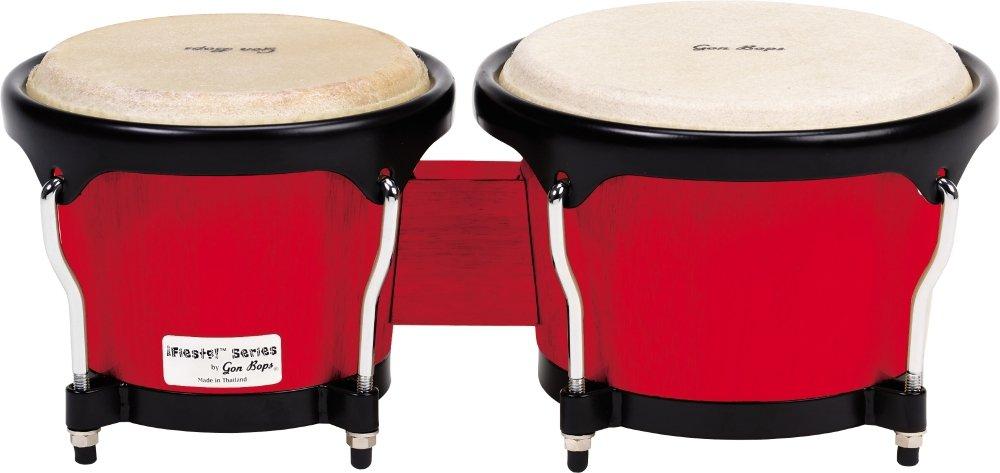 Gon Bops Fiesta Series Bongo, Red with Black Hardware