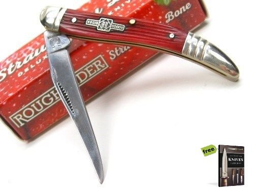 Free Mini Pick Set (ROUGH RIDER Red STRAWBERRY Bone SMALL TOOTHPICK Folding Knife + Free eBook by SURVIVAL STEEL)