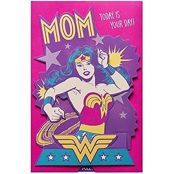 Amazon american greetings wonder woman mothers day card with american greetings wonder woman mothers day card with sound m4hsunfo