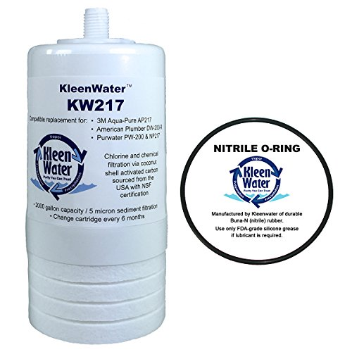 217 Compatible Filter, KleenWater Alternative Replacement Cartridge with O-Ring (Pur Undersink Filter)