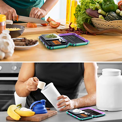 (Upgradaed) Brifit Digital Mini Scale, 200g /0.01g Pocket Scale, 50g calibration weight, Electronic Smart Scale, 6 Units, LCD Backlit Display, Tare, Auto Off, Stainless Steel (Battery Included)
