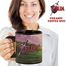 16oz The Legend of Zelda (LoZ) OFFICIAL Link Riding Epona with Navi PREMIUM Ceramic Coffee Mug GIFT