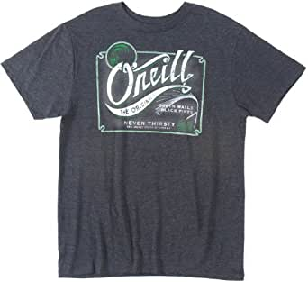 O'Neill Mens On Tap Short-Sleeve Shirt, Heather Black, Small