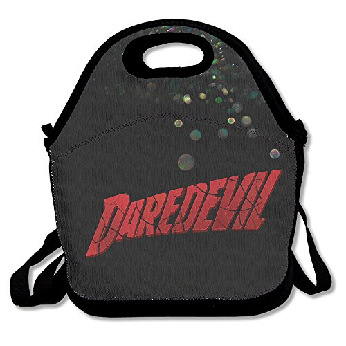 Daredevil Ben Affleck Costumes (Bakeiy Daredevil The Complete First Season Lunch Tote Bag Lunch Box Neoprene Tote For Kids And Adults For Travel And Picnic School)