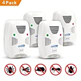GEEKERS Ultrasonic Pest Repeller Plug in - Insects Repellent - Rodents Repeller - Repels Spiders, Mice, Bugs, CockRoaches, Mosquitoes, Flies, Rodents, Insects - Humans & Pets Safe [4-Pack]