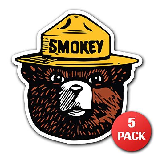 Sticker Snowboard Decal - CUSTOMI Smokey The Bear Firefighting Wildlife Decal Sticker Car Truck MacBook Laptop Air Pro Vinyl (5)
