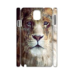 3D Doah Arts Samsung Galaxy Note 3 Cases Lion Majesty, Arts [White]