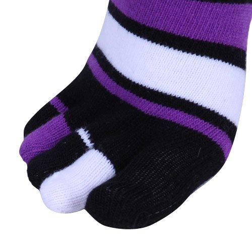 3a1f2c264d2 Amazon.com   LSU Tigers Ladies Black-Purple Striped Knee-High Toe Socks   Football  Socks   Sports   Outdoors