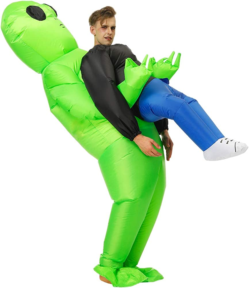 Hacosoon Inflatable Alien/Unicorn/Flamingo/Pink-Pig/Shark Costume/Halloween Costume/Inflatable Party Costumes
