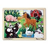 Melissa & Doug Wooden Jigsaw Puzzle - On The Farm