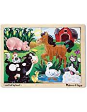 Melissa & Doug Wooden Jigsaw Puzzle - On The Farm