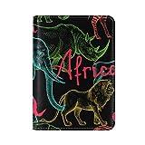 Africa Animal Elephant Leather USA Passport Holder Cover Travel Case