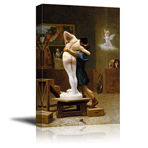 wall26 - Pygmalion and Galatea by Jean-Leon Gerome - Canvas Print Wall Art Famous Painting Reproduction - 24
