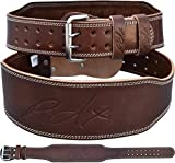 RDX Cow Hide Leather Gym 4 inch Training Weight Lifting Belt Back Support Fitness Exercise Bodybuilding,Brown,M 28 inch-32 inch (Waist Size not Pant Size), M 28 inch-32 inch (Waist Size not Pant Size), Brown