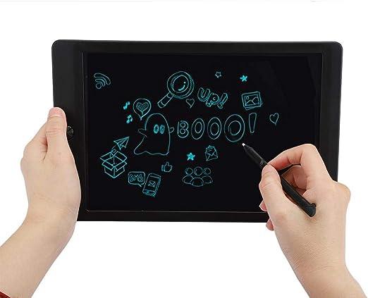 LCDタブレット、ライティングタブレット、耐久性のある10インチLCDドローイングボードメモ帳、メモ用の超薄型(black)