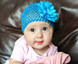 6 Pack Baby Hat - Baby Girl Shower Gifts - Perfect for Newborns, and Twins - Baby Photo Prop - Newborn Photography - Baby Clothes