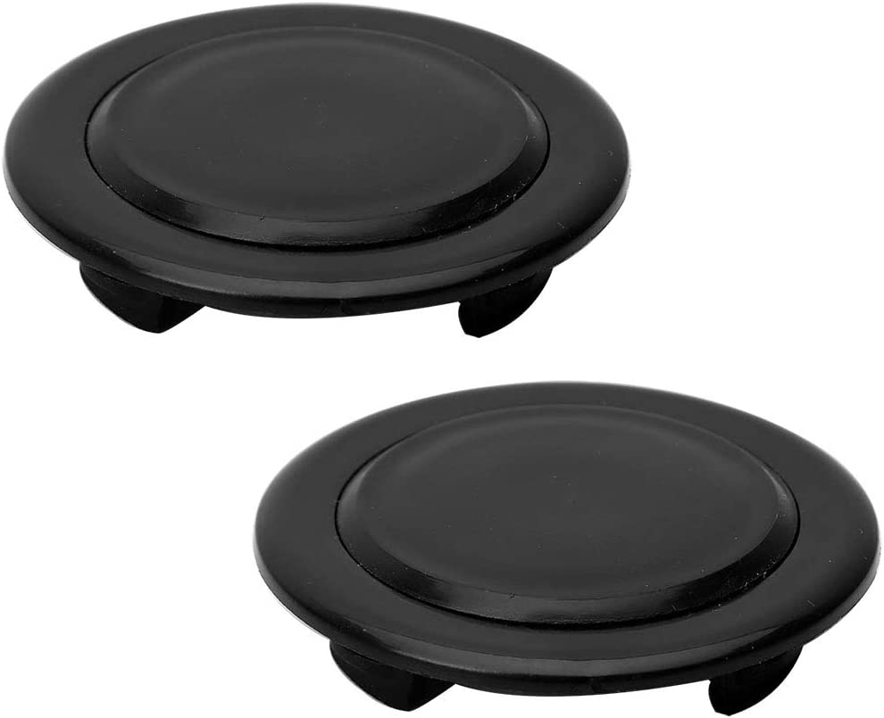 PZRT 2 Sets Patio Table Umbrella Hole Ring and Cap Set Black Standard Size Outdoor Patio Umbrella Replacement Ring