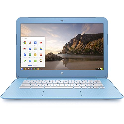 HP Premium High Performance 14 inch Chromebook Full HD (1920x1080) IPS display, Intel Celeron Quad-Core Processor,4GB RAM,16GB eMMC drive,802.11AC WIFI HDMI Webcam Bluetooth Chrome OS (Sky Blue)
