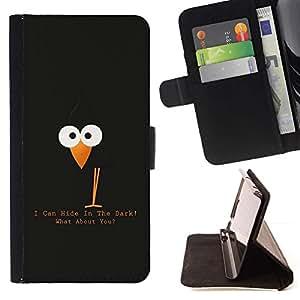 For MOTOROLA MOTO X PLAY XT1562 Case , Divertida linda del cuervo del cuervo- la tarjeta de Crédito Slots PU Funda de cuero Monedero caso cubierta de piel