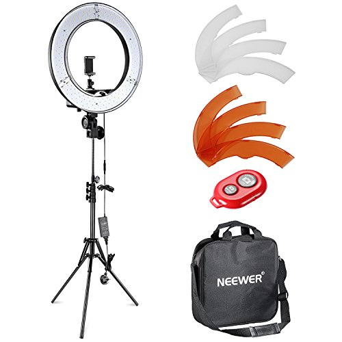 Neewer 12-inch Inner/14-inch Outer LED Ring Light and Light Stand 36W 5500K...