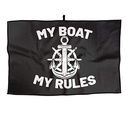 BHSBC.L My Boat My Rules Soft Golf Towel Quick Dry Microfiber Towel Sports Towel 15