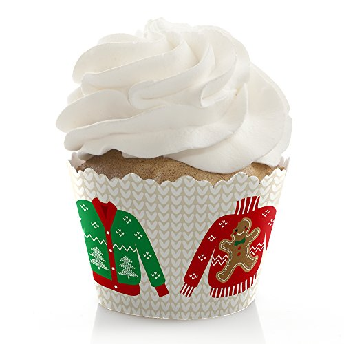 Ugly Sweater - Christmas Party Cupcake Wrappers - Set