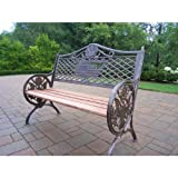 Cheap Oakland Living God Bless America Bench, Antique Bronze.