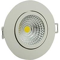 Spot LED Redondo Foxlux – Luz Branca (6500K) – 5W – Bivolt (100V-240V) – Ideal para decoração