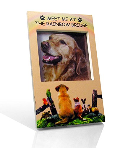 dog memorial rainbow bridge memorial frame pet remembrance picture frame wit - Dog Memorial Frame