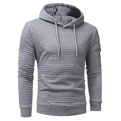 for Men Duseedik Mens' Long Sleeve Plaid Hoodie Cotton Blend Hooded Tops Jacket Coat Outwear ()