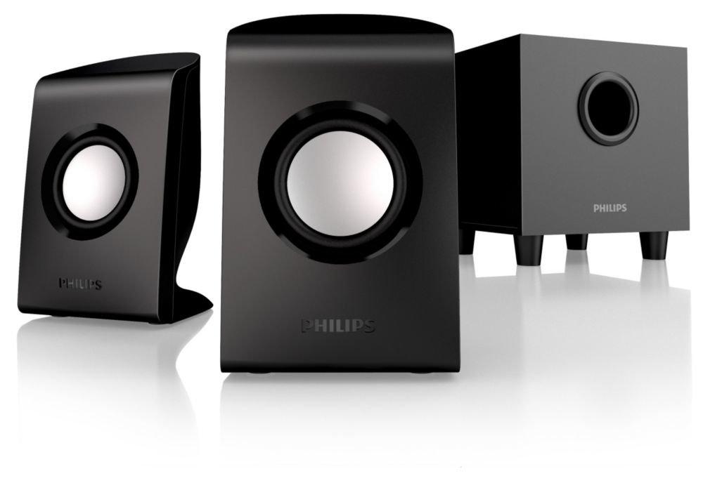 Philips SPA1330/37 Multimedia Speakers 2.1 (Black)