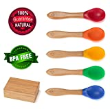 Baby Pinch Boutique Fine Bamboo Spoon Gift Set in Keepsake Box (Rainbow Set of...
